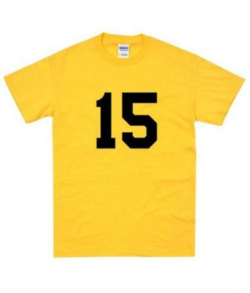 15 Number Yellow Tshirt