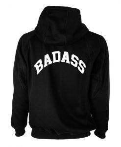 Badass Back Black Hoodie