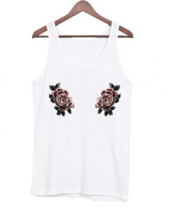 Double Pink Roses Tank Top