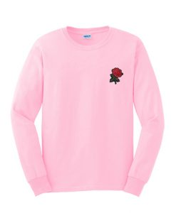 Rose sweet pink sweatshirt