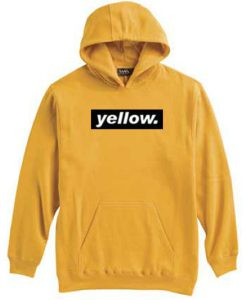Yellow Black Striped Hoodie