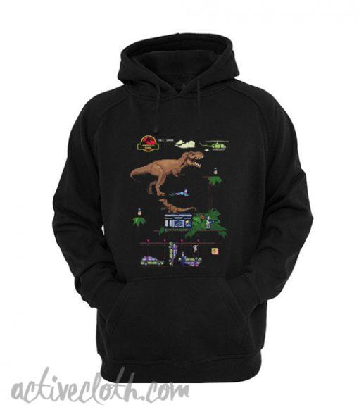 Jurassic Park 8-Bit Classic Dino Hoodie