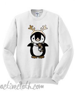 Penguin and Antler Christmas Holiday Sweatshirt