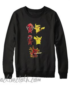 Pikachu fusion deadpool pikapool Sweatshirt