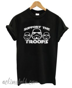Support The Troops Black fashionable T-Shirt