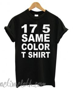 17 5 Same Color Black fashionable T shirt