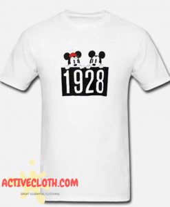 1928 Mickey and Minnie Mouse fashionable T-Shirt