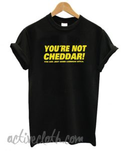 You're Not Cheddar fashionable t-shirt