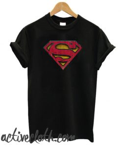 Superman S-Shield Distressed Logo fashionable T-Shirt