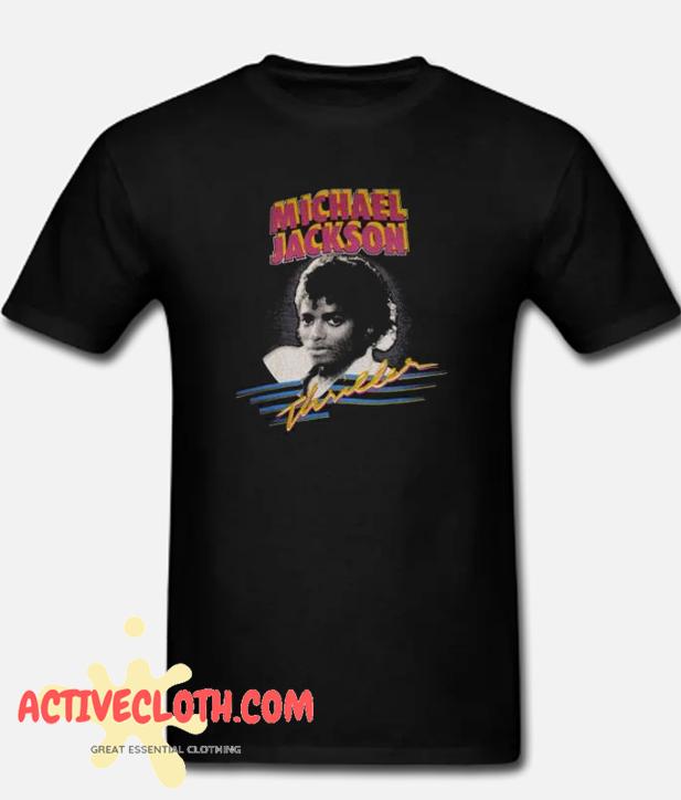 1982 MICHAEL JACKSON THRILLER fashionable T shirt