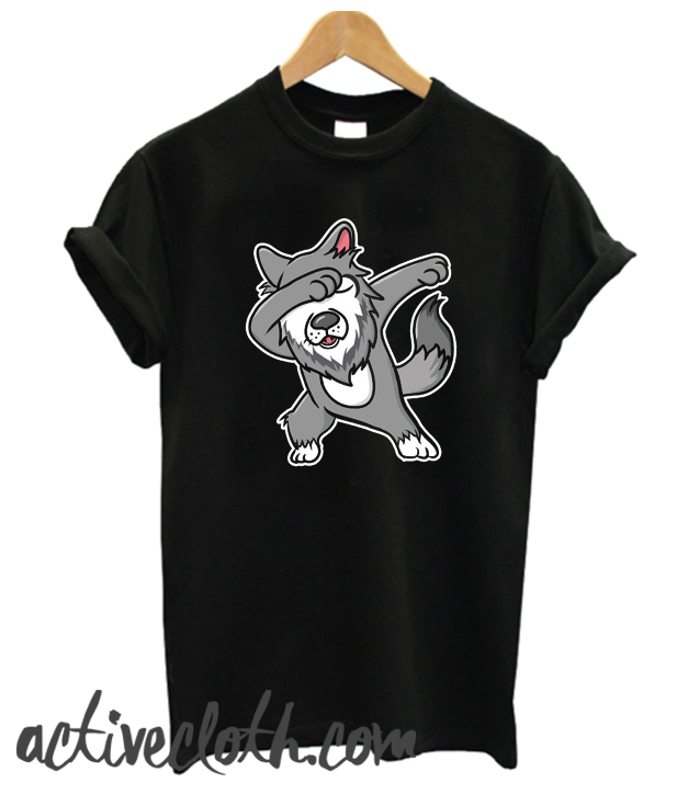 Dabbing Wolf fashionable T Shirt