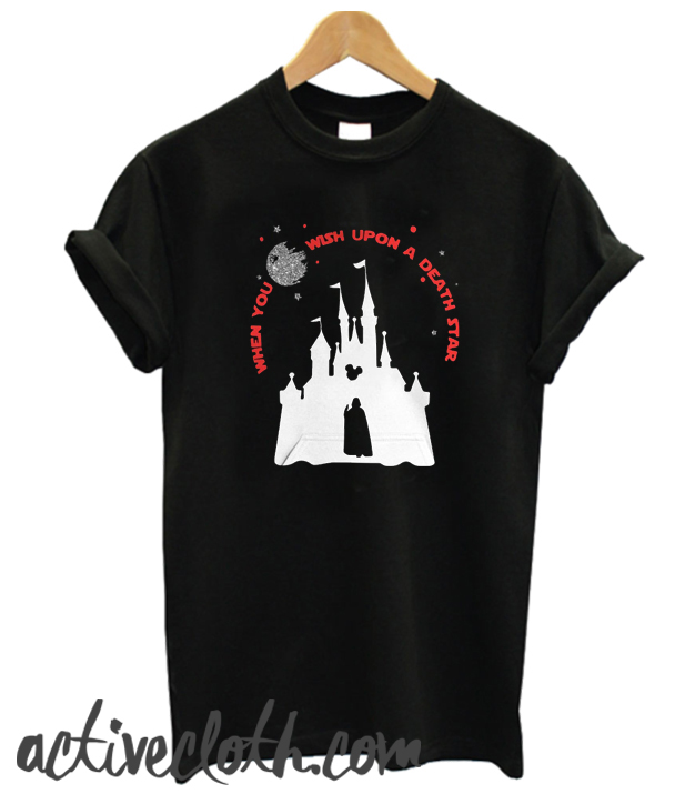 Darth Vader Mickey When You Wish Upon A Death Star fashionable T-shirt