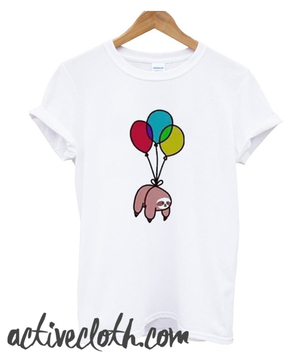 Sloth Tied To Balloon fashionable T shirt