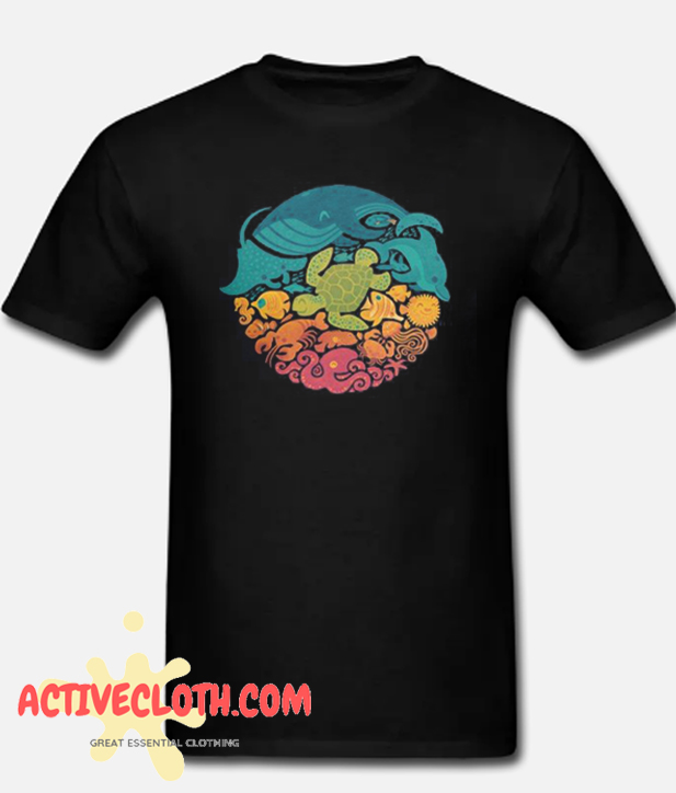 Aquatic Rainbow Fashionable T Shirt