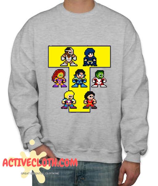 8-Bit NEW TEEN TITANS Fashionable Sweatshirt