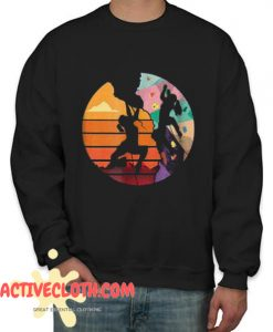 Retro Rock Climbing Fashionable Sweatshirt