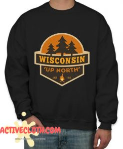 Retro Up North Wisconsin Fashionable Sweatshirt