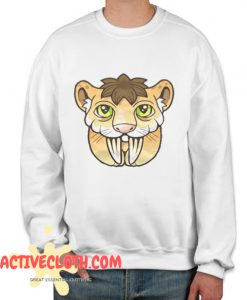 Saber toothed tiger Fashionable Sweatshirt
