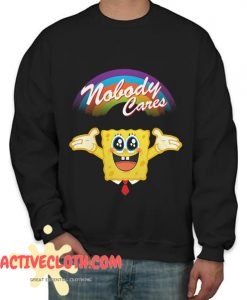 SpongeBob Nobody Cares Fashionable Sweatshirt