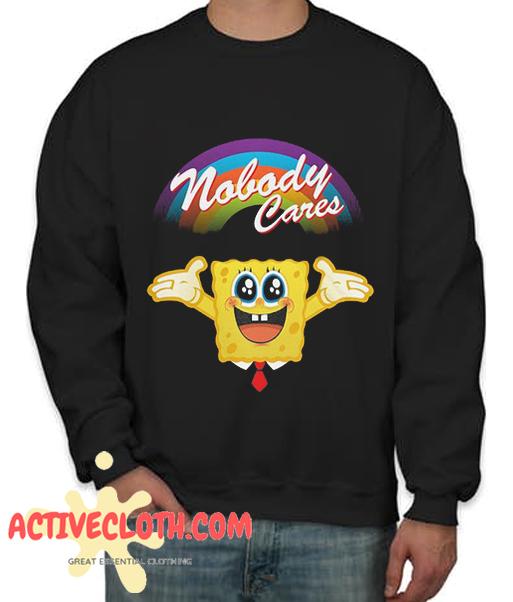 SpongeBob Nobody Cares Fashionable Sweatshirt