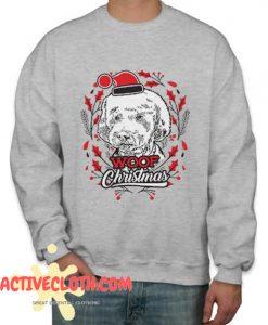 Woof Christmas Fashionable Sweatshirt