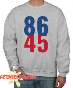 86 45 Anti Trump Impeachment Fashionable sweatshirt