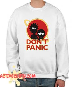 Rick and Morty Adventure Don't Panic Fashionable Sweatshirt