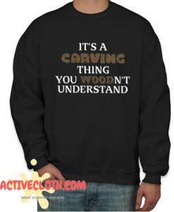 Wood carving Fashionable Sweatshirt