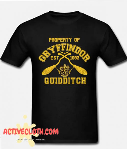 Gryffindor Quidditch Black Yellow Runway Fashionable T shirt