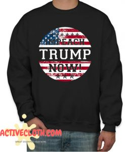 Retro Vintage USA Flag impeachment Trump Now 2020 Fashionable sweatshirt