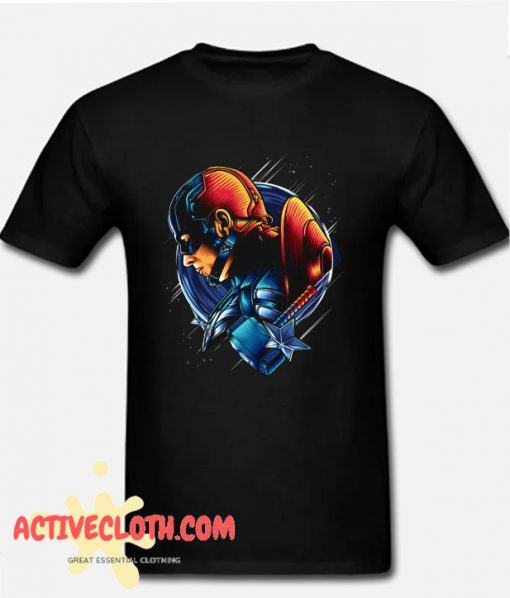 Captain America Fashionable T Shirt